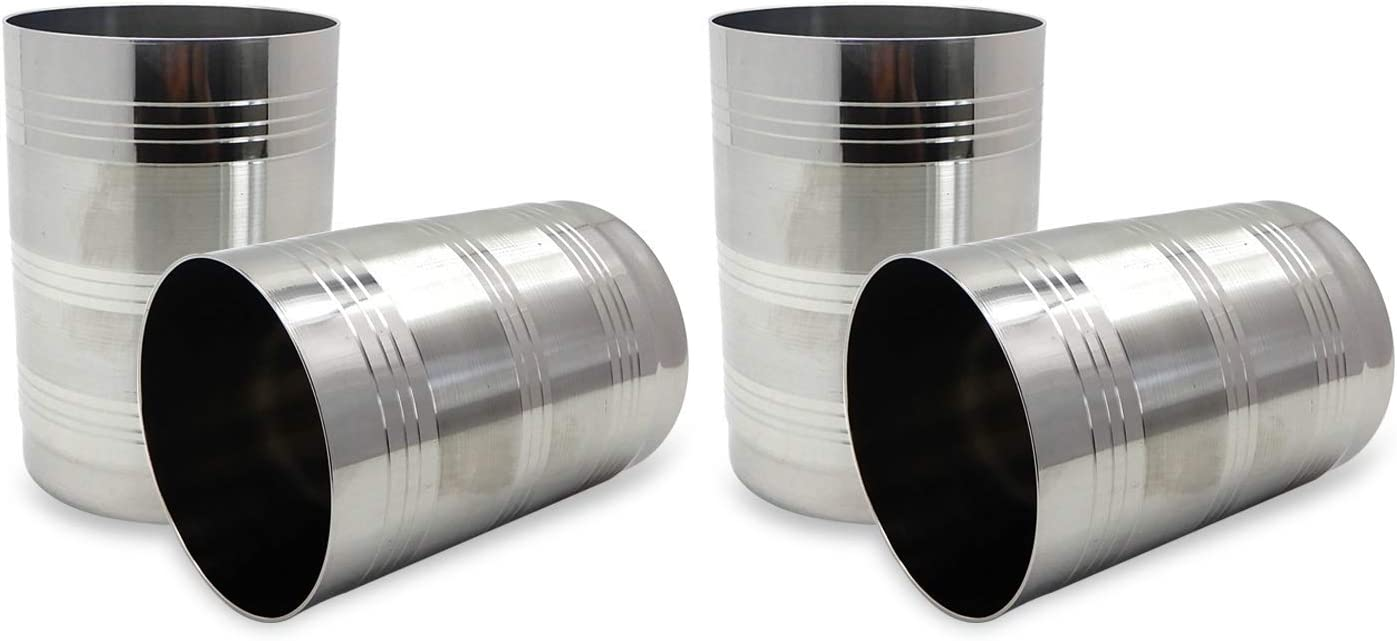 6, 250 ml Pack of 6 WhopperIndia Stainless Steel Cups 250 ml Metal Drinking Glasses Classic /& Unbreakable Great for Kids