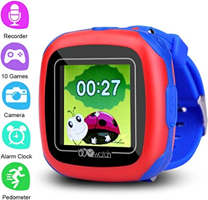 PHRtoy Smart Game Watch for Kids,[10 Games][Camera][Alarm Clock][Pedometer] Game Smart Watch - Nice Birthday Gift for Kids, Girls and Boys (Blue)
