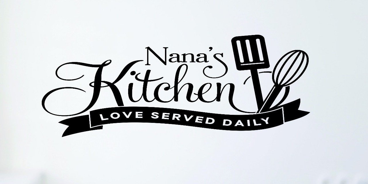 Design with Vinyl RAD 698 2 Nana's Kitchen Loved Served Daily Cooking Vinyl Wall Decal Black 16 x 24