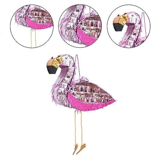 CatcherMy Flamingo Pinata para Rellenar con Confeti Metálico ...