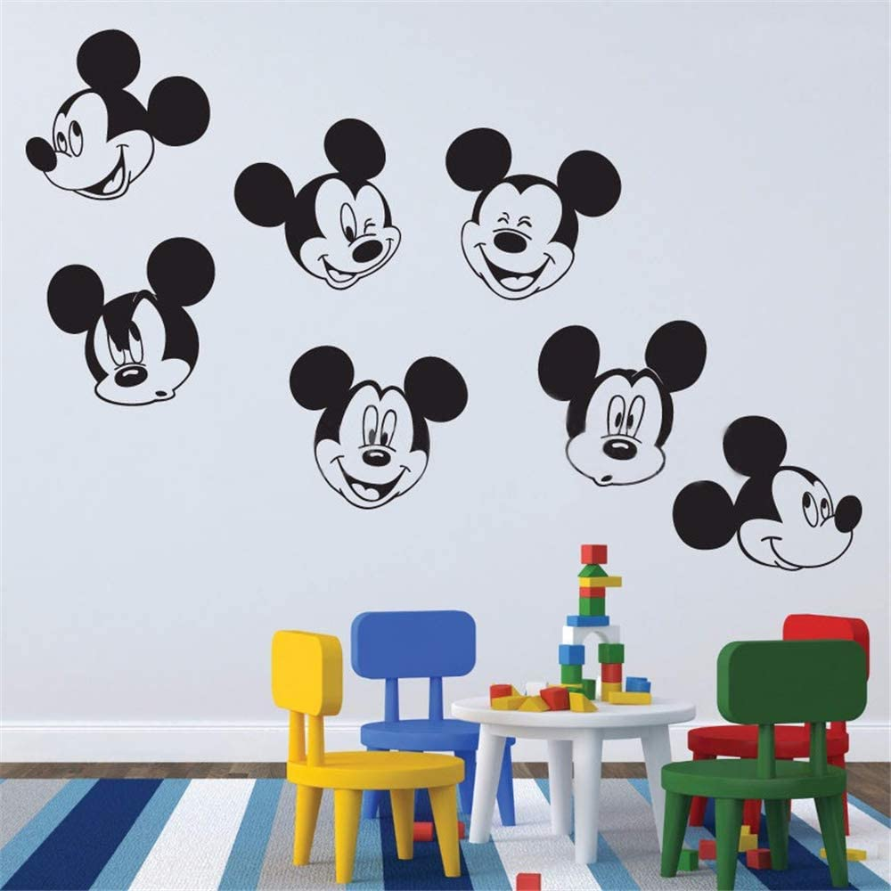 Mickey Mouse Wall Sticker Decal Mickey Mouse Various Faces Decals Boys Girls Bedroom Nursery Bathroom