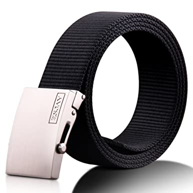 JIEJING Mens Belt,Smooth Buckles Youth Belt Stylish Simple Personality Wild Belt