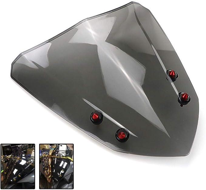 Baedivg Motorrad Windschutzscheibe Windschutzscheibe Luftabweiser Rauch Schwarz Roller Zubehör Für Yamaha Aerox 155 Nvx155 2017 2018 Sport Freizeit
