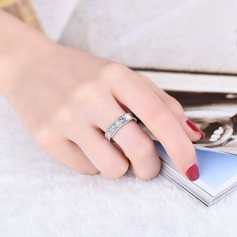 Amazon.com: 0.138ct Brilliant Diamond Real 18K White Gold Wedding ...
