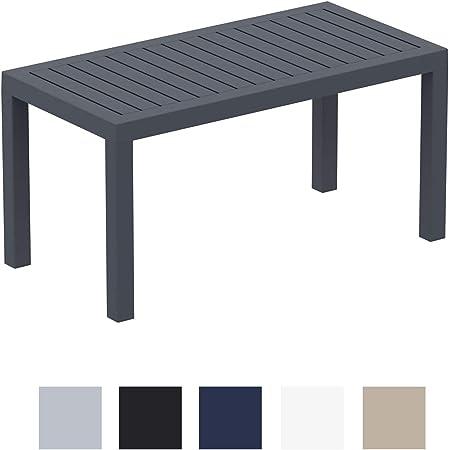 CLP Table Lounge Ocean - Table de Jardin Résistante aux Intempéries et aux  Rayons UV - Table de Terrasse ou Véranda en Plastique Solide - Couleur au  ...