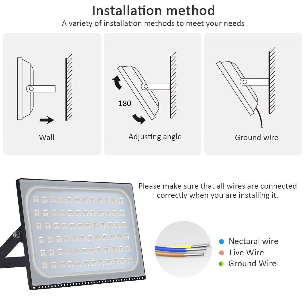 500W LED Outdoor Flood Lights Thinner and Lighter Design Waterproof ...