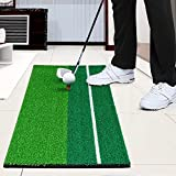 Amzdeal Dual-Track Putting Green Indoor Golf Simulator Practice Mat