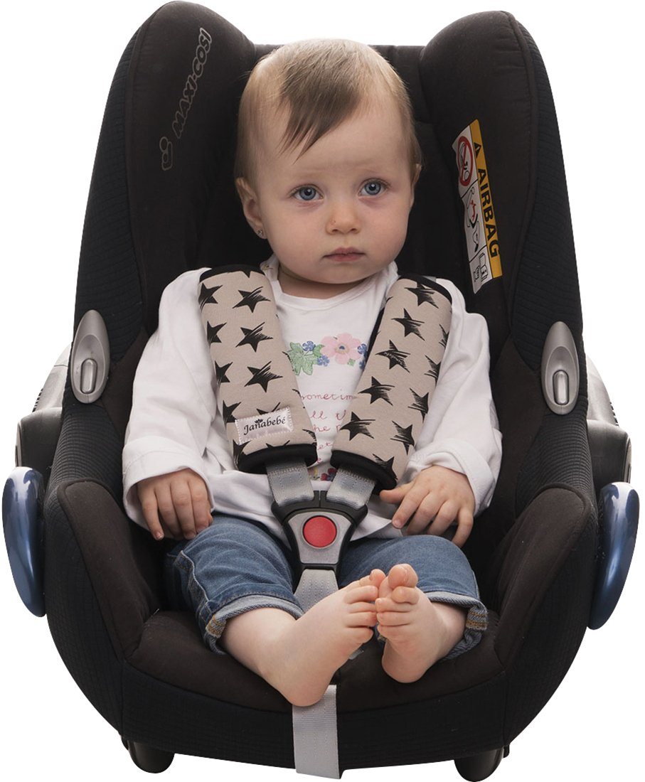 Harness Protector for Stroller, Maxi COSI and Car Seat Janabebe (Dark Sky, 17 X 18)