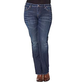 e9a659f44107c Silver Jeans Women Plus Aiko Mid Boot Jeans Mid Rise Jeans Slim Hip Thigh