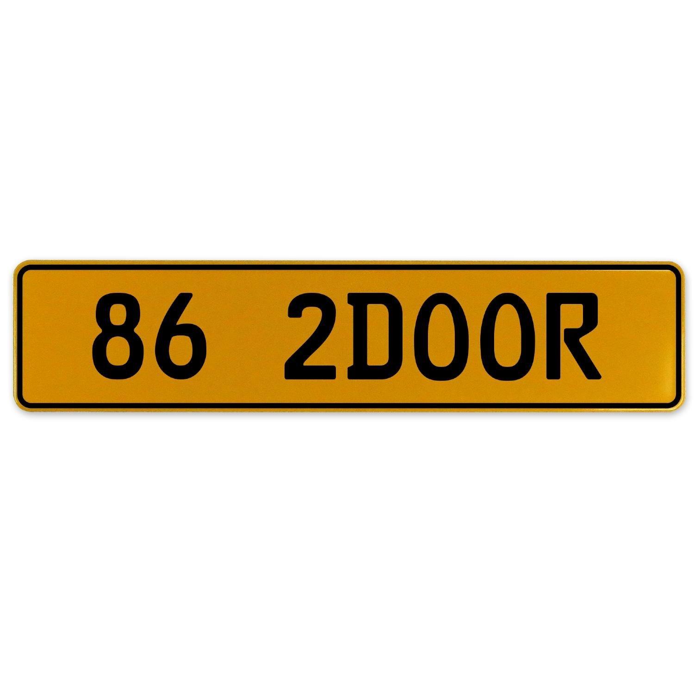 Vintage Parts 563000 86 2DOOR Yellow Stamped Aluminum European Plate