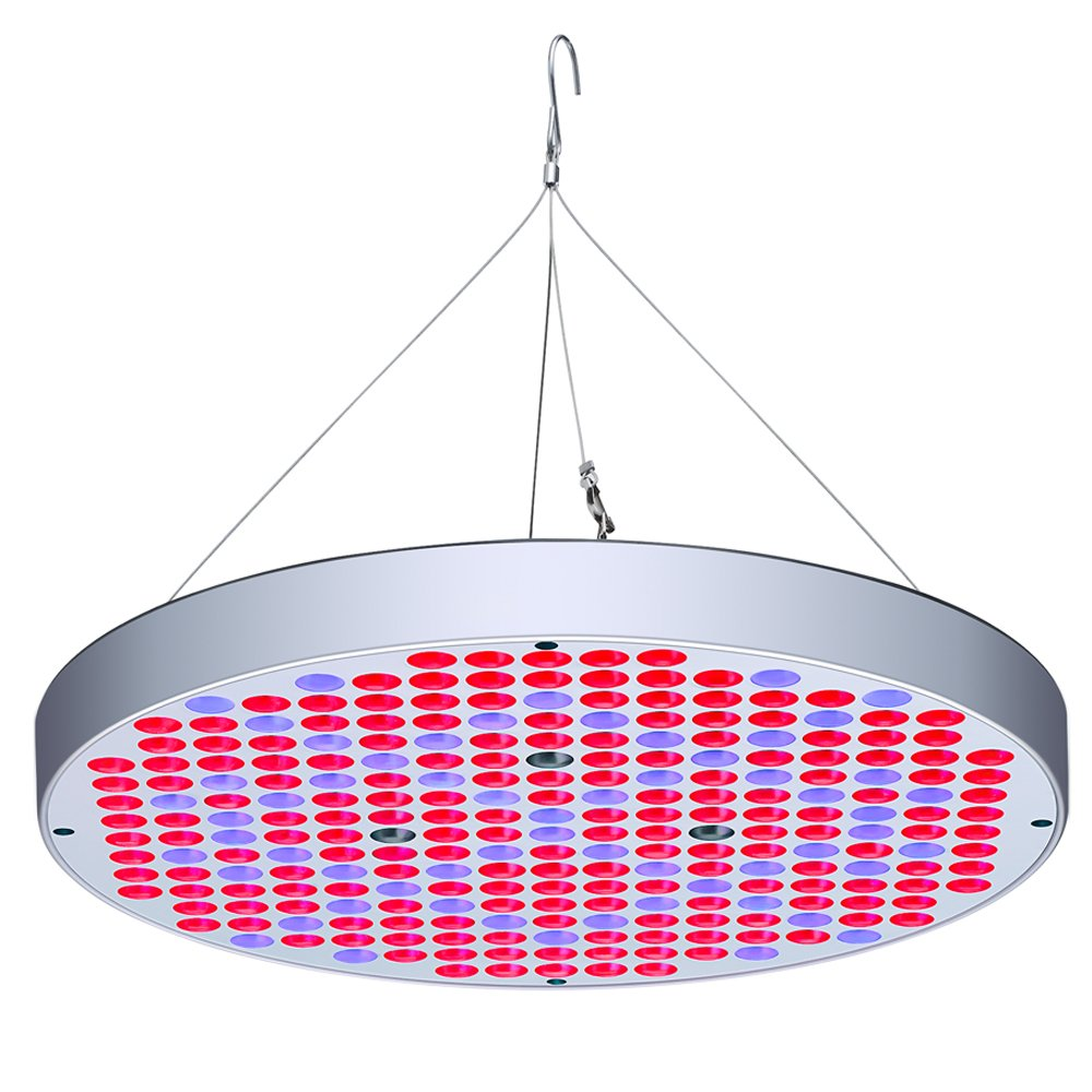 50W LED Grow Lights Panel, AEJSLOK Upgraded UFO 250 LEDs Full Spectrum Plant Growing Lamp with Switch for Hydroponics Indoor Plants Seedling Growing Flowering