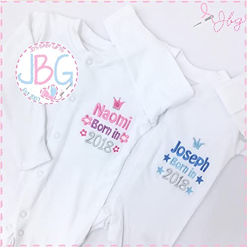 Personalised baby sleepsuit born in 2018 design embroidered gifts personalised baby sleepsuit born in 2018 design embroidered gifts for a new baby negle