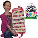 Season 1 CollEGGtibles Egg 1 Blind Pack,Hatchimals + Compatible EASYVIEW Toy Storage Organizer Case Bundle (Pink)