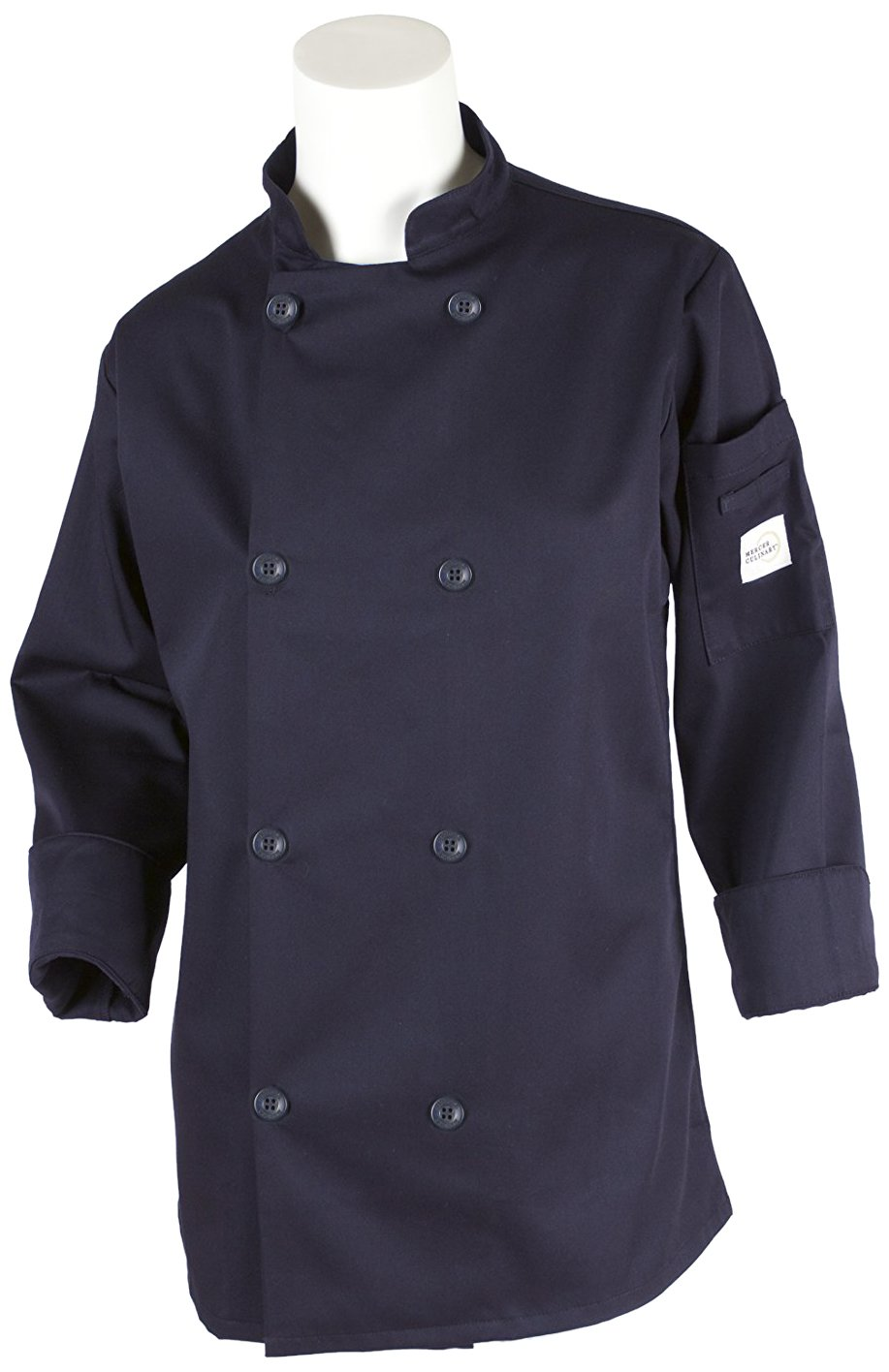 Mercer Culinary M60020NB2X Millennia Women's Cook Jacket with Traditional Button, XX-Large, Navy Blue