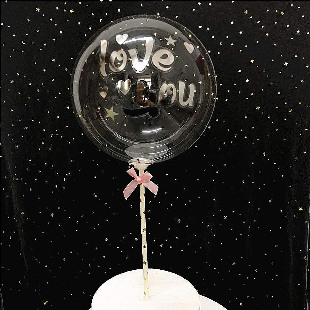 LED String Not Included Bobo Balloons 50 Packs,20 Inch Helium Style Transparent Bubble Bobo Balloons for LED Light Up Balloons Gifts for Christmas,Wedding,Birthday Party Decorations