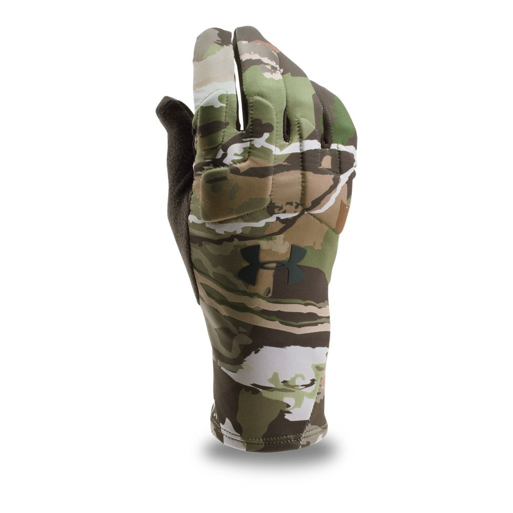 Under Armour Men's Scent Control 2.0 Hunting Gloves, Ridge Reaper Camo Forest (943)/Black, Large