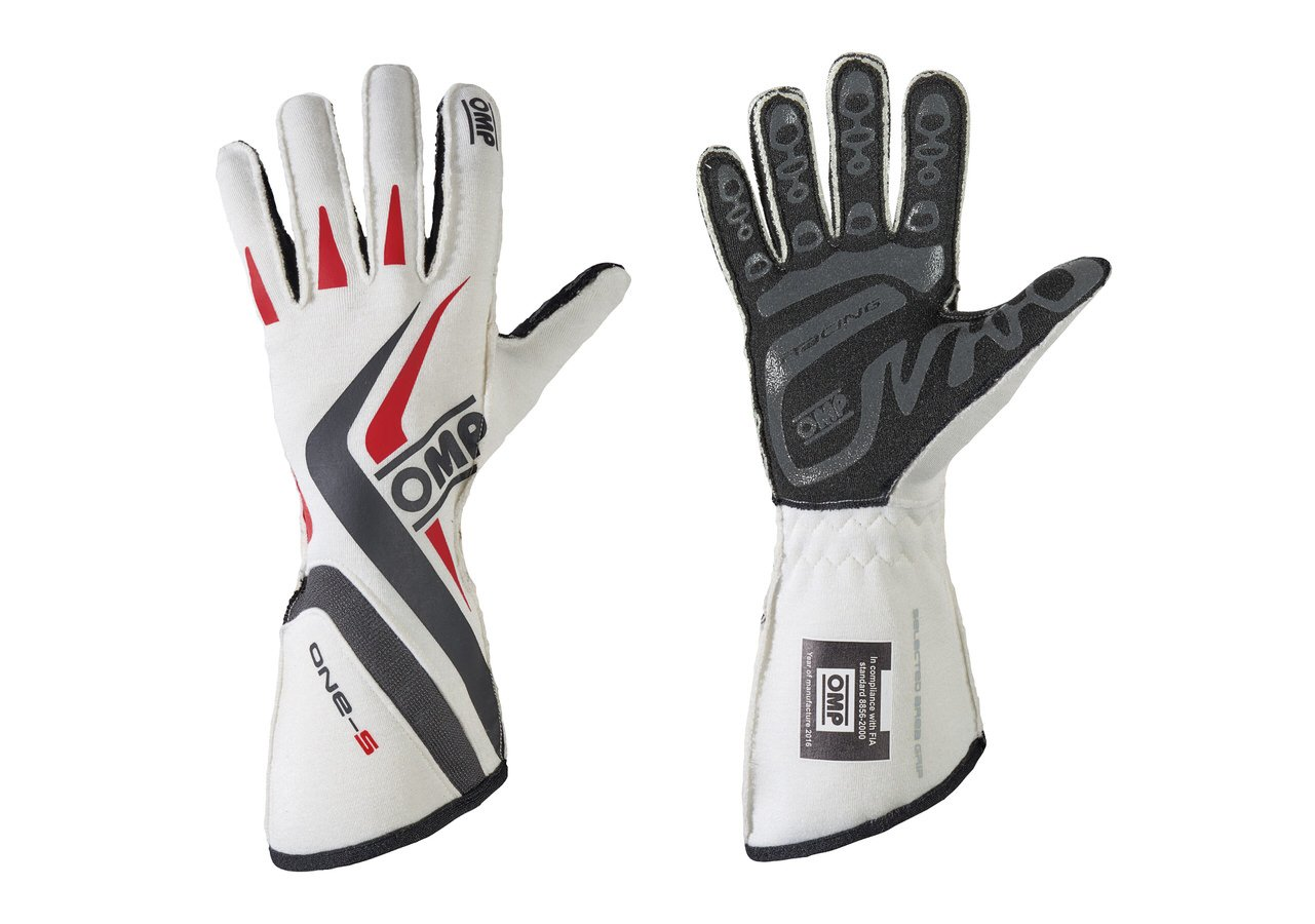 OMP IB/755E/W/L One-S Gloves, White, Large (MY2016)