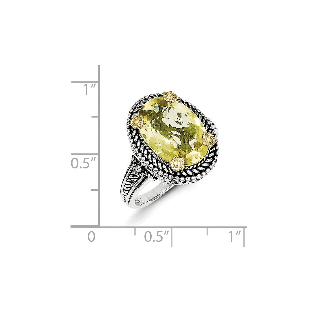 925 Sterling Silver Yellow Lemon Quartz Natural Gemstone Ring Natural Gemstone Round Faceted Lemon Quartz Rings Greatest Jewellery Highest Item Gift for Grandmother top Ring