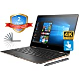 """HP Spectre x360 13t Convertible 2-in-1 Laptop in Dark Ash Silver (Intel 8th Gen i7-8550U, 16GB RAM, 1TB PCIe SSD, 13.3"""" UHD 3840x2160 Touchscreen, Win10 Pro) Two Year Warranty and Accidential Damage"""