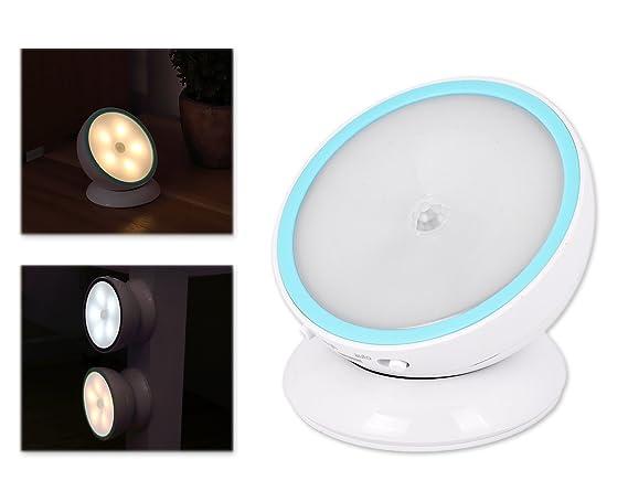 DSstyles Luz de noche LED Light 360 ° Sensor de movimiento enciende la luz de la