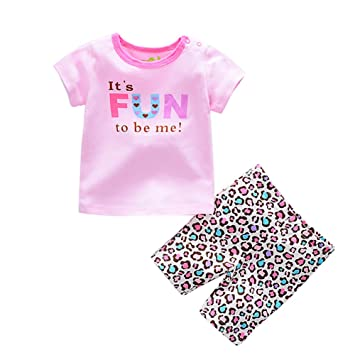 a8fca968b Amazon.com  Baby Boys Girls Outfits 2 Pieces Short Sleeve T-shirt ...