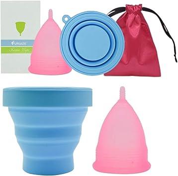 Copa Menstrual Furuize Basic con Taza de Esterilización. Silicona suave de grado médico 100%. Previene infecciones y fortalece el suelo pélvico. ...
