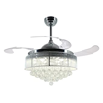 Parrot uncle ceiling fans with lights 42 modern led ceiling fan parrot uncle ceiling fans with lights 42quot modern led ceiling fan retractable blades crystal chandelier aloadofball Choice Image
