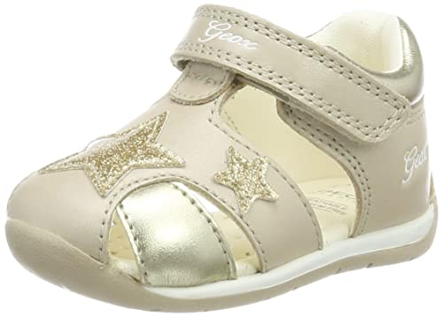 new list special sales the best Geox Baby' B Each Girl D Sandals, Beige/Gold C0871, 6 UK ...