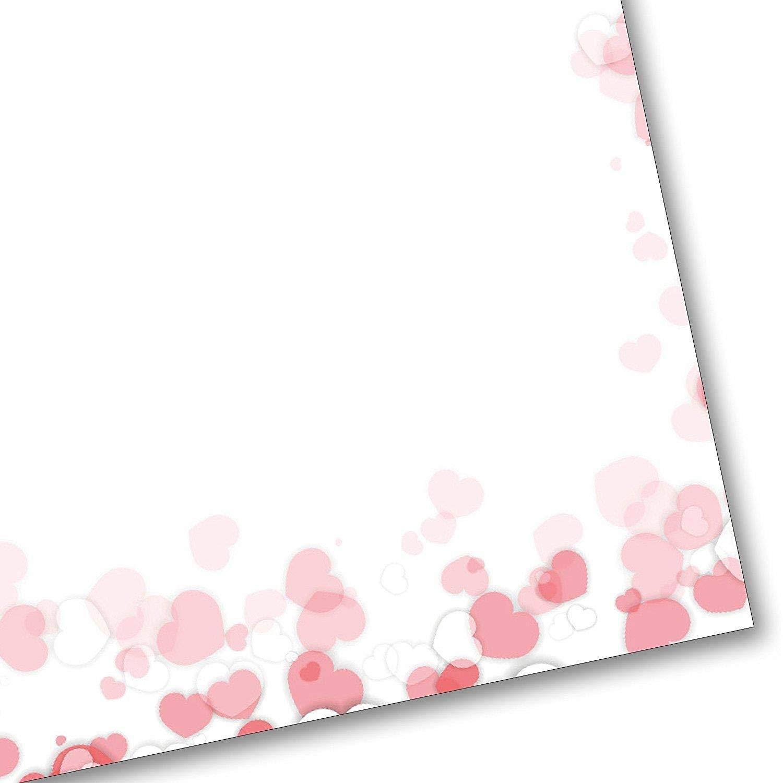Motivpapier Briefpapier Herzen Hochzeit love is in the air 50 Blatt DIN A4 Liebe