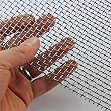 "2 Piece Stainless Steel Woven Wire Mesh SS304 Rodent Mesh Insect Mesh By TORIS Pest Contol Mesh No Corrosion Security Mesh (11.8*8.2""(300*210mm), Stainless Steel)"