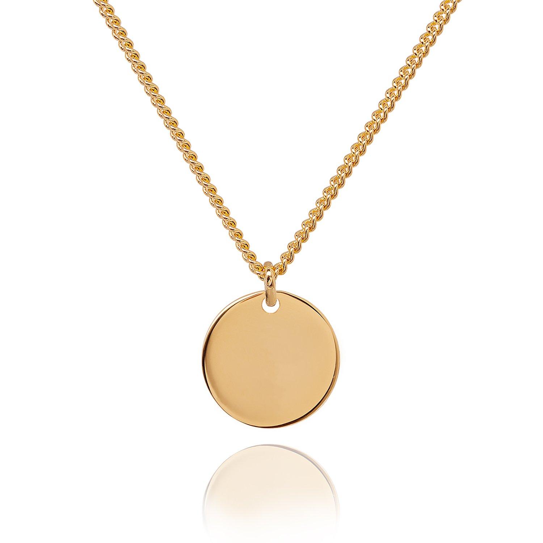 Kette Durchmesser 46-48 cm Halskette mit Anhänger goldfarben Herz