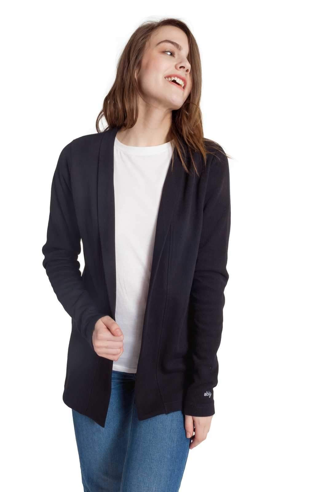 Ably Apparel Celeste Cardigan | repels liquids, Stains, and Odors