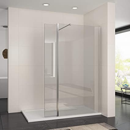 Walk In Shower With Flipper Panel.Elegant 900mm Walk In Wetroom Shower Enclosure Panel 8mm Easy Clean Glass Screen With 1500 X 800mm Shower Tray And 300mm Flipper Panel