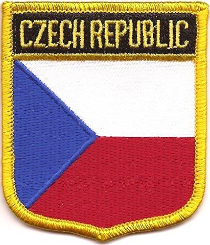 Czech Republic Flag Patch / International Iron On Badge Travel Patch for backpacks (Czech Crest, 2.75