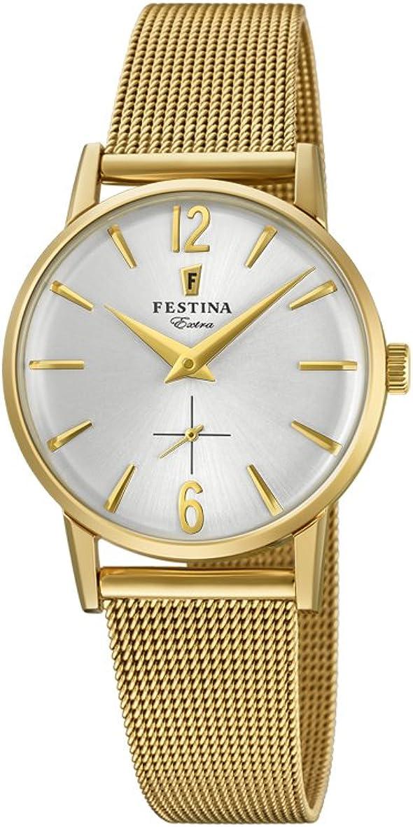 Festina Reloj Análogo clásico para Mujer de Cuarzo con Correa en Acero Inoxidable F20259/1