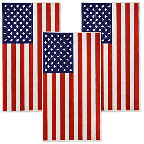 Banner Cover (Gift Boutique American Flag Patriotic Door Cover 3 Pack July 4 Decorations USA Banner for Indoor and Outdoor Party Supplies)