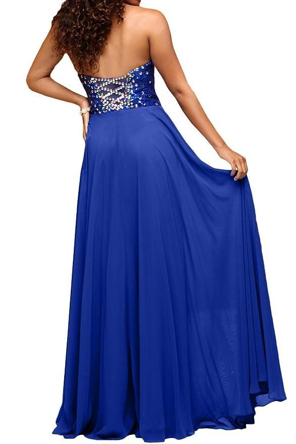 Charm novia Royal azul piedras bola vestido vestido de fiesta vestido de noche de corazones: Amazon.es: Ropa y accesorios