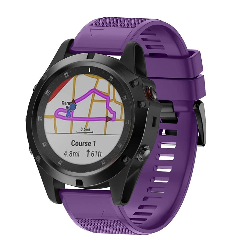 fullfunスポーツソフトシリコン交換バンドGarmin Fenix 5 x Plus Smartwatch、クイックリリース 6.70