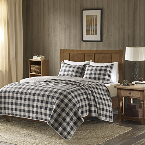 Oversized Quilt Mini Set Full/Queen/Gray - Classic Home Solid Wool