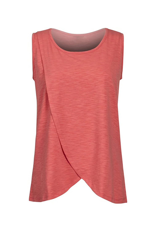 Yacun T-Shirt Allaitement Femmes en Soins Infirmiers sans Manches Maternit/é Haut