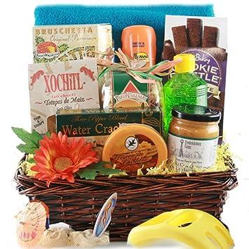 Just add Sunscreen Beach Gift Basket: Amazon.com: Grocery ...
