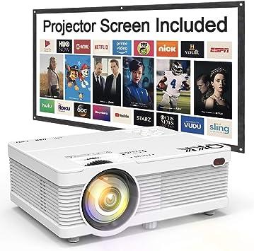 Amazon.com: QKK Proyector LCD portátil de 3800L de brillo ...