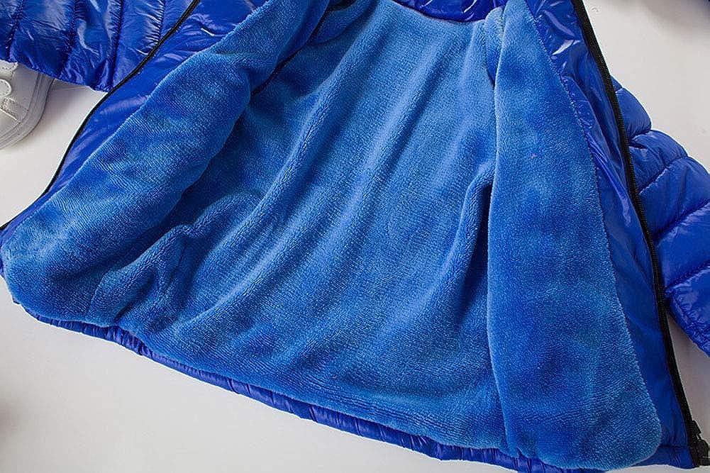 Wide.ling leggero con cappuccio rimovibile per 2-7 anni imbottito Cappotto invernale per bambini e ragazze