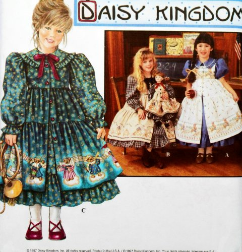 - OOP Simplicity Daisy Kingdom Pattern 9706. Girls Szs 3;4;5;6 Dress W/sleeve Variation & Pinafore. Also Included: 18