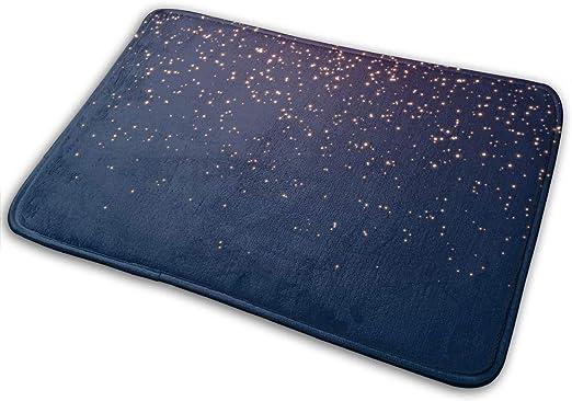 Amazon.com: Bath Mat Navy Blue Sky and Stars Memory Foam Bath Mats