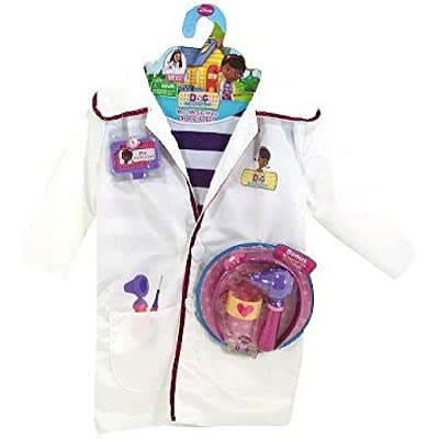 Disney Doc McStuffins Doctors Coat Costume Set with Shirt and Bonus Accessories: Toys & Games