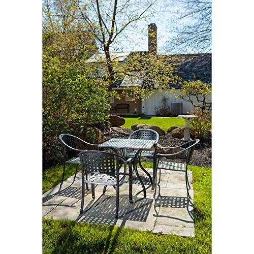 Alfresco Home Milano 5Piece Cafe Set in London Black with 31.5