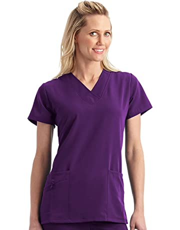 7735ee58755 Jockey Women's Scrubs V-Neck Crossover Scrub Top