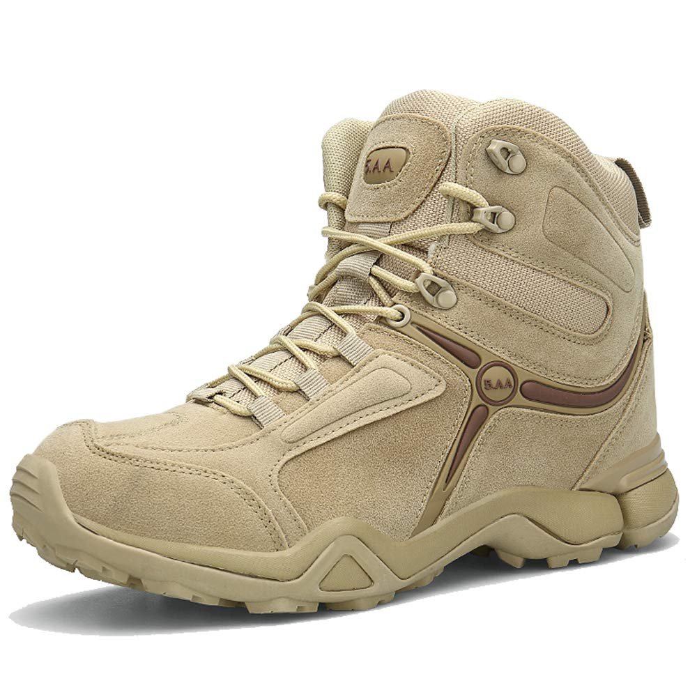 YIRUIYA Mens Outdoor Military Tactical Ankle Boots Combat Hiking Boot Zipper