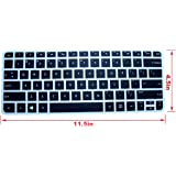 CaseBuy Soft Silicone Gel Keyboard Protector Skin Cover for HP Spectre x360 2-in-1 13.3 Touch-Screen Laptop US Laptop(if your enter key looks like 7, our skin can't fit)(Black)